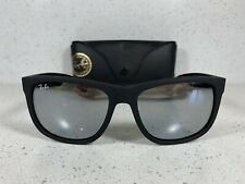 Ray-Ban Rb4165 622/6G Matte Black Grey Mirror Justin Classic WayfarerSunglasses