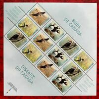 Canada Stamps SC#1591-1594 Birds of Canada Sheet of 12 MNH/OG