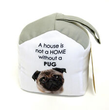 Shabby French Provincial Fabric Pug Dog Door Stop Stopper