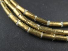 Brass Ethiopian Tube Beads 7x3mm African Large Hole 26-28 Inch Strand Handmade