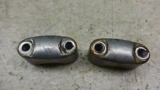 1974 yamaha rd60 Y333-4~ upper top bar handlebar clamps
