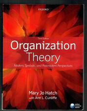 ORGANIZATION THEORY, MODERN, SYMBOLIC,POSTMODERN PERSPECTIVES,MARY JO HATCH,NEW
