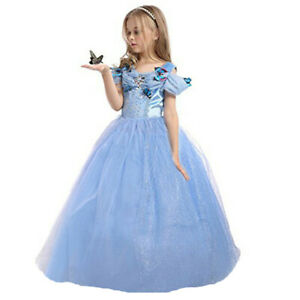 ELSA & ANNA® Girls Fancy Dress Snow Queen Princess Dress Halloween Costume CNDR5