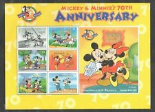Dominica 2060G Mnh Disney Mickey Minnie 70th Anniversary Sheet