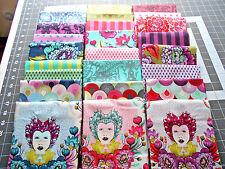 "Complete Set  9""x11""~ ELIZABETH Tula Pink Cotton Quilt Fabric Free Spirit Floral"