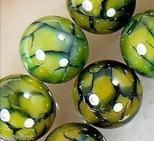 Rare 6mm Natural Green Dragon Veins Agate Round Gemstone Loose Beads 15 AAA