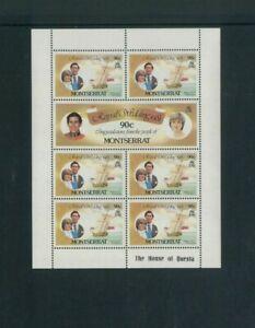Wholesale Lot Prince Charles & Diana Wedding. Montserrat 465-70 (Cat.977.50)