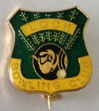 Lock Bowling Club Badge Rams Head Design Rare Vintage (K3)