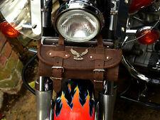 YeBr) Brown Top Leather Pouch Tool Roll Bag Yamaha Dragstar xvs 125 250 650 1100