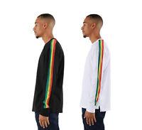 EPTM. Men's Long Sleeve Rasta Side Stripe Track T Shirt