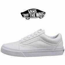 e05d2d2676 Mens Vans Old Skool Fashion Sneaker Core Classic White Canvas Suede All Size  NEW