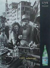 PUBLICITE SAN PELLEGRINO LIVE IN ITALIAN SIGNE ELLIOTT ERWITT DE 2012 FRENCH AD