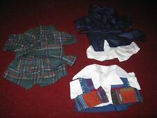 Teddy Bear Clothing Lot of 7 Hand Sewn Made in Usa circa 1990s