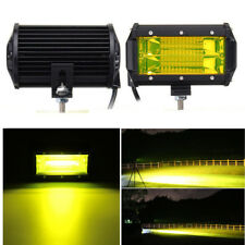 5 Inch 72W Yellow 24 LED Car Offroad Work Light Bar Flood Beam Fog Driving  Lamp