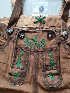 W30 Fasching WAX Tracht Jeans Shorts Lederhose Hose Oktoberfest Volksfest Träger
