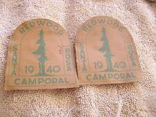 1940 Camporal Boy Scout Santa Rosa Redwood Lot 2