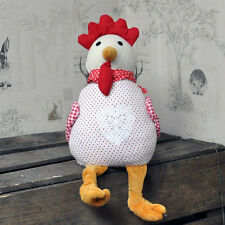 Chicken Doorstop Red Spot Fabric Hen Cockerel Fabric Door Stop Animal  30cm
