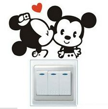 FD841 Cartoon Mouse Light Switch Funny Wall Decal Vinyl Stickers DIY ~1pc~