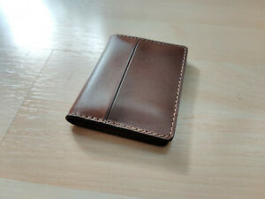 NOMAD Horween leather rustic brown Slim Wallet with stealth pocket