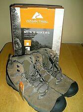 Mens Ozark Trail Hikers Leather Bump Toe Flexible Midsole Boots Size 14