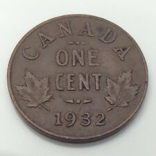 1932 Canada 1 One Cent Copper Penny Circulated Canadian Coin G040