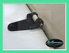 Land Rover Defender Security Bonnet Hinge -black powder coated stainless steel