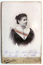PHOTO CDC OUVRIERE à MARSEILLE MARCELLE KRAFFT JEUNE FEMME 1893 M886