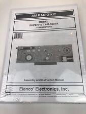 Elenco Electronics Inc. AM Radio Kit AM-55TK W/ Assembly & Instruction Manual