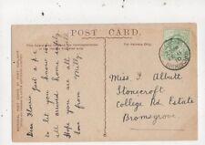 Miss Florrie Albutt Stonecroft College Road Estate Bromsgrove 1910 Postcard 823a