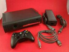 Black Xbox 360 Elite System [w/ Controller, 120GB HDD & Cables] Tested & Working