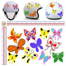 Adesivi casco farfalle multicolor sticker helmet batterfly decal tuning 11 pz.
