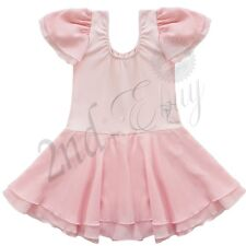 Girl Kid Dance Dress Ballet Tutu Leotard Skate Skirt Dancewear Costume SZ  3-4