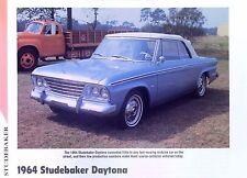 1964 Studebaker Daytona Convertible V8 289 ci or 304.5 ci Info/Specs/photo 11x8