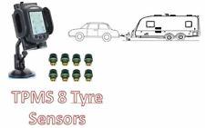 Tyre Pressure Monitoring System for CAR & CARAVAN 8 tyre sensors