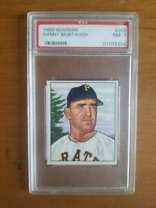 PSA 7 NM - 1950 Bowman #203 Danny Murtaugh Pittsburgh Pirates