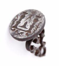 antique 17th C. Fob, Sceau, wax lacquer Seal Stamp, Masonic Freemason symbols
