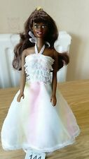 """BARBIE DOLL 11/12"""" STUNNING BLACK DOLL has PART WHITE BODY (144r) JUST BEAUTIFUL"""