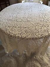 Beautiful Vintage Quaker Cotton Lace Tablecloth