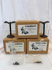 Lot of 5 - Crate & Barrel Leaf Tiebacks Cast Iron #138-282