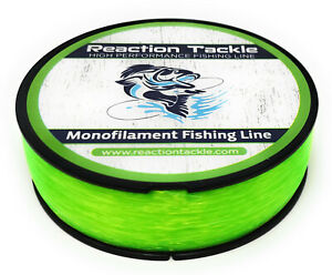 Reaction Tackle Monofilament Fishing line- Nylon / Mono Various Sizes and Colors