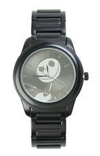 Disney The Nightmare Before Christmas Jack Silver Face Metal Band Watch NIB!