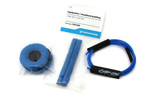 Sennheiser HD25 Blue Pads Set with Custom Cans Adidas Blue Cable Wrap Kit