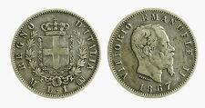 pcc2028_2) VITTORIO EMANUELE II (1861-1878) 1 LIRA STEMMA 1867 MI AR