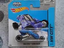 Hot Wheels 2014 #086/250 MAX ACIER TURBO RACER bleu neuf fonte 2014 lot E