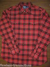 RALPH LAUREN Polo Mens Plaid Classic Western Cowboy Cotton Snap Shirt Sz XL NEW