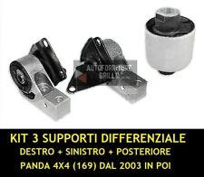KIT 3 SUPPORTI DIFFERENZIALE PANDA 4X4 (169) DAL 2003 IN POI - TUTTE
