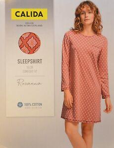 Calida 1x Nachthemd lang Gr. XL Paisley 32526 rot 205 Nightshirt Baumwolle