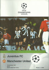 JUVENTUS FC V MANCHESTER UNITED 1997/98 CHAMPIONS LEAGUE CUP PROGRAMME
