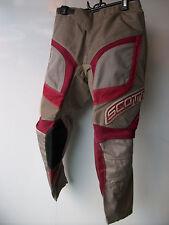 "Kids Youth Red Scott Pants Sz 28"" Age 11-13 Motocross Trousers Honda Mx CR YZ SX"