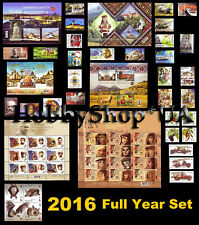 Ukraine 2016 Year COMPLETE Full Set of Ukrainian Stamps Blocks Standard 68 pcs.